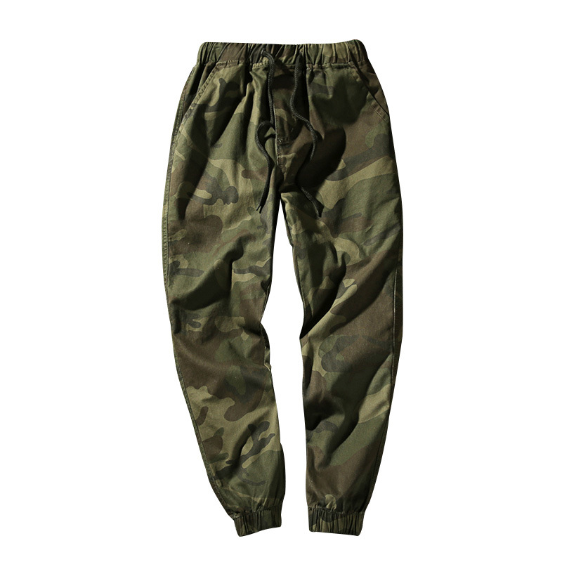 Men's New Style Camouflage Workwear Athletic Pants Men's Plus Velvet Ankle Banded Pants Casual Pants Harem Pants MEN'S Trousers