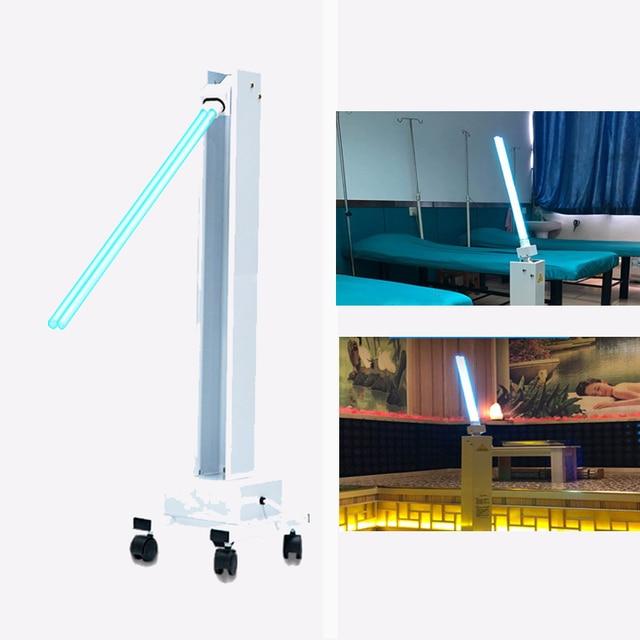 Luz germicida uv móvel da máquina profissional da lâmpada do esterilizador da desinfecção de 220 v 60 w uvc para a fábrica/escola/loja do animal de estimação
