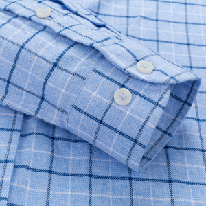 Image 4 - Mannen 100% Katoen Geborsteld Flanel Plaid Geruite Shirt Lange Mouw Standaard Fit Comfortabele Warm Casual Button Kraag shirts