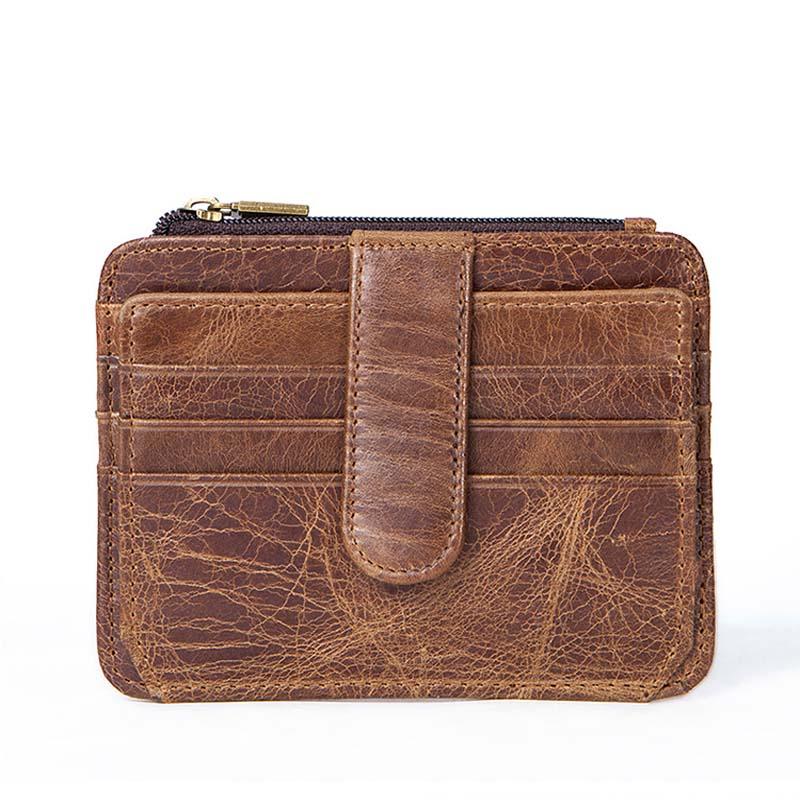 Top 2019 Vintage Men Leather Brand Luxury Wallet Short Slim Male Purses Money Clip Credit Card  Coins Money Traveling Cards