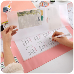 Image 3 - Candy Color Kawaii Multifunctional Pen Holders Writing Pad 2018 2020 Calendar Mat Learning Pad Office Mat Desk Decor Accessories