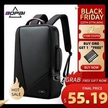 Laptop Bagpack Computer-Bag BOPAI Elegant Anti-Theft Waterproof Men's Women Increased-Capacity