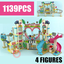 New Friends Roller Amusement Park Coaster Fit Legoings Friends Girls Gift Figures City Building Block Brick Diy Toy Birthday lepin friends amusement park roller coaster playground building blocks classic girl kids model toys marvel compatible legoings