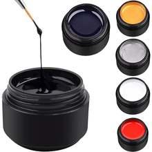 5 мл 6 цветов паук гель для ногтей лак дизайн декоративный Рисунок