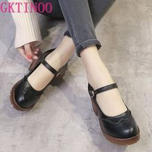 цена на 2017 New Women Pumps Fashion Round Toe Buckle Strap Med Heels Ankle Boots Woman Shoes Black Gray Beige T3619