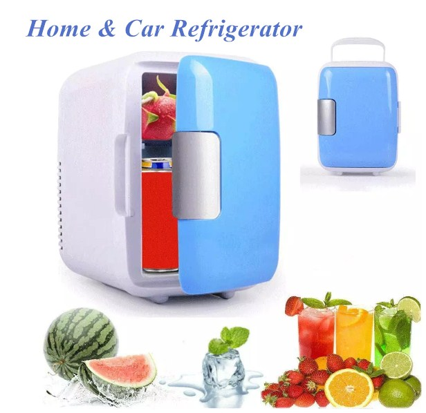 Mini Portable 4 L Refrigerators For Cosmetics Heating & Cooling Electric Home Fridges Freezer Cooler Warmer For Office Dormitory