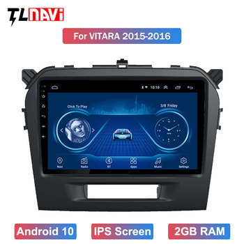 9 inch Android 10 Car DVD Multimedia Player For 1Suzuki Vitara 2015 2016 2017 2018 2019 GPS Navigation radio BT WIFI MAP image
