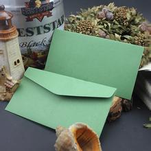 Niestandardowe przyjazne dla środowiska europejski i amerykański styl naturalny papier 198g zielony formalne na wesele zaproszenie koperta tanie tanio CRANEKEY CN (pochodzenie) customized 198L002 Okna koperty Zwykłym papierze Biznes koperta