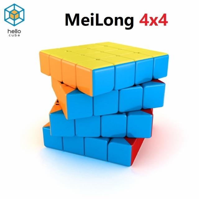 HelloCube Mofangjiaoshi Meilong cubing classroom MF4 4x4 magic cube stickerless 4x4x4 speed moyu cube kids toys educational 1
