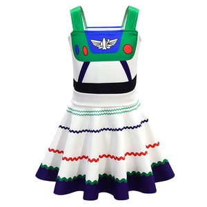 Image 3 - Buzz Lightyear Costumes Girl Dresses Fancy Dress Halloween Costumes For Kids Buzz Lightyear Role Play  Cosplay Costumes
