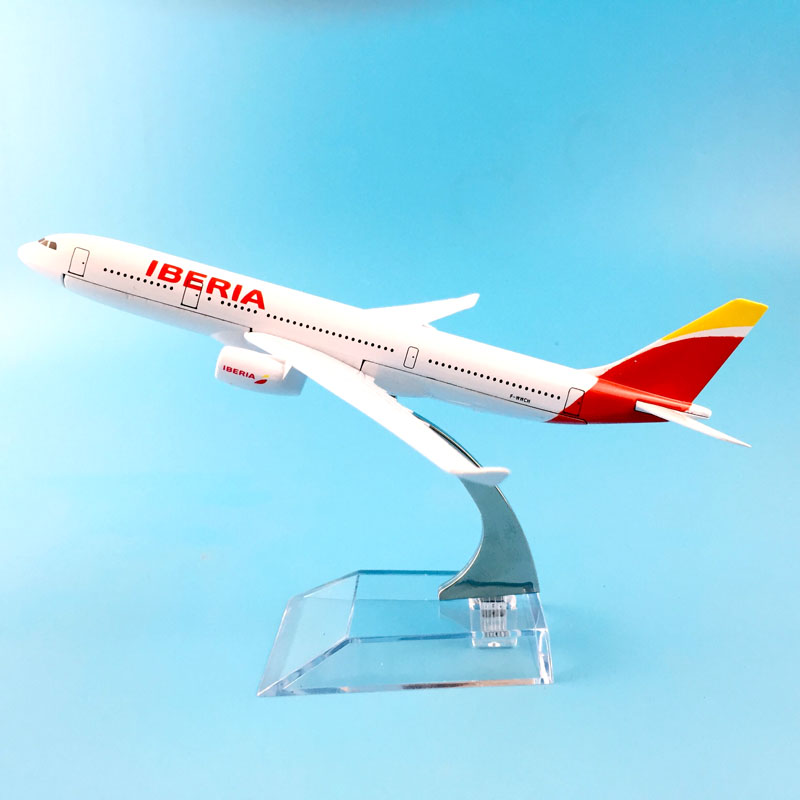 16CM AIRLINES A330 IBERIA AIR AIRCRAFT MODEL MODEL PLANE SIMULATION 16 ALLOY CHRISTMAS TOYS GIFT KIDS image