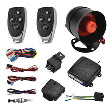 Sound And Light Alarm Car Remote Control Locking Device Keyless Entry System Door Security Kit  Anti-Theft Find Auto Location