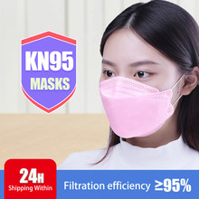 Adult Pink Fish KN95 Mask Face Fabric Mask KN95S Respirator Protective Mouth Face Mask KN95 Mask Dustproof Pink Mascarillas