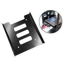 Горячая новинка Профессиональный 2,5 дюймов до 3,5 дюймов SSD HDD металлический переходник-салазки жесткий диск SSD Монтажный кронштейн держатель для ПК черный