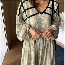 Женское свободное платье с принтом Осеннее Новое поступление