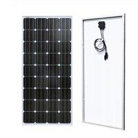 초심자 12V 태양 충전기를위한 뜨거운 100w 유리제 태양 전지판 체계