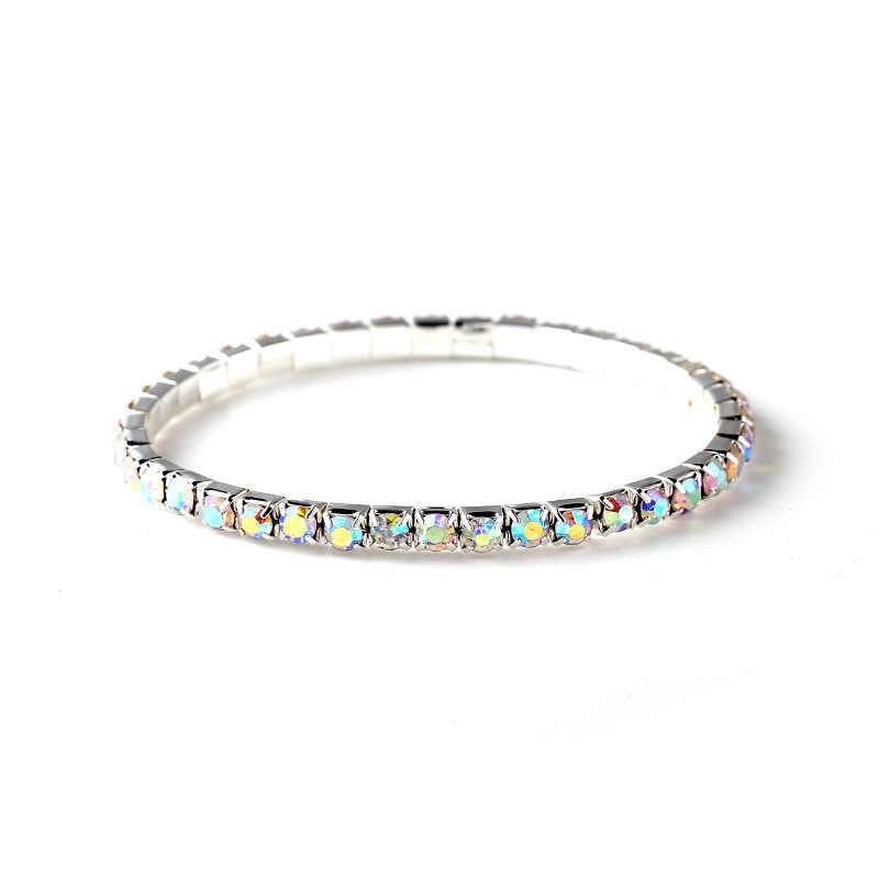 2020 nowych moda rhinestone jeden rząd bransoletka kobiet bransoletka kryształ braceler