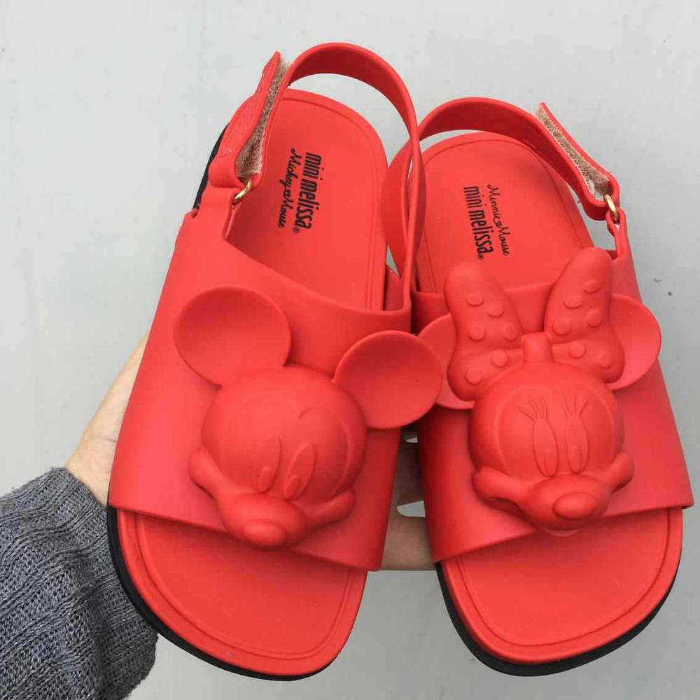 Mini Melissa Mickey Girls Boys Sandals Children Candy Animal Toddler Baby Boy Children's PVC Kids Jelly Shoes SH144