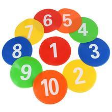 Durevole Obiettivo 10 Pcs Professionale Attrezzature per L'allenamento di Calcio Segni Dischi Segni Disco Marcatori Piatto Dischi Formato Ufficiale di trasporto