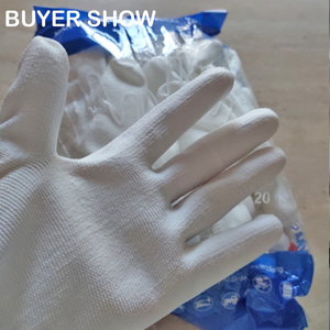 Image 5 - 24Pieces White Anti Static Protective Work Gloves with Nylon Knitted Liner Dipped PU On Palm Glove