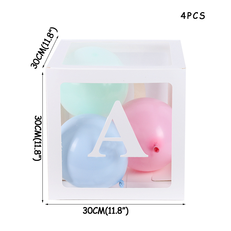 Love Baby Transparent box Storage filled balloons Baby shower and Wedding decoration Boy Girl 1st birth 1th birthday party decor in Party DIY Decorations from Home Garden
