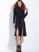 Платье женское средней длины на молнии в готическом стиле