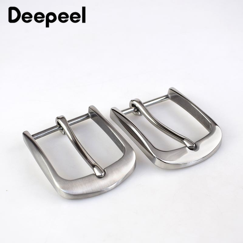 1PC Fashion Solid Stainless Steel Belt Buckles Metal Pin Buckles Belt Head For Mens Jeans 38-40mm Wide Belt DIY Leather Craft