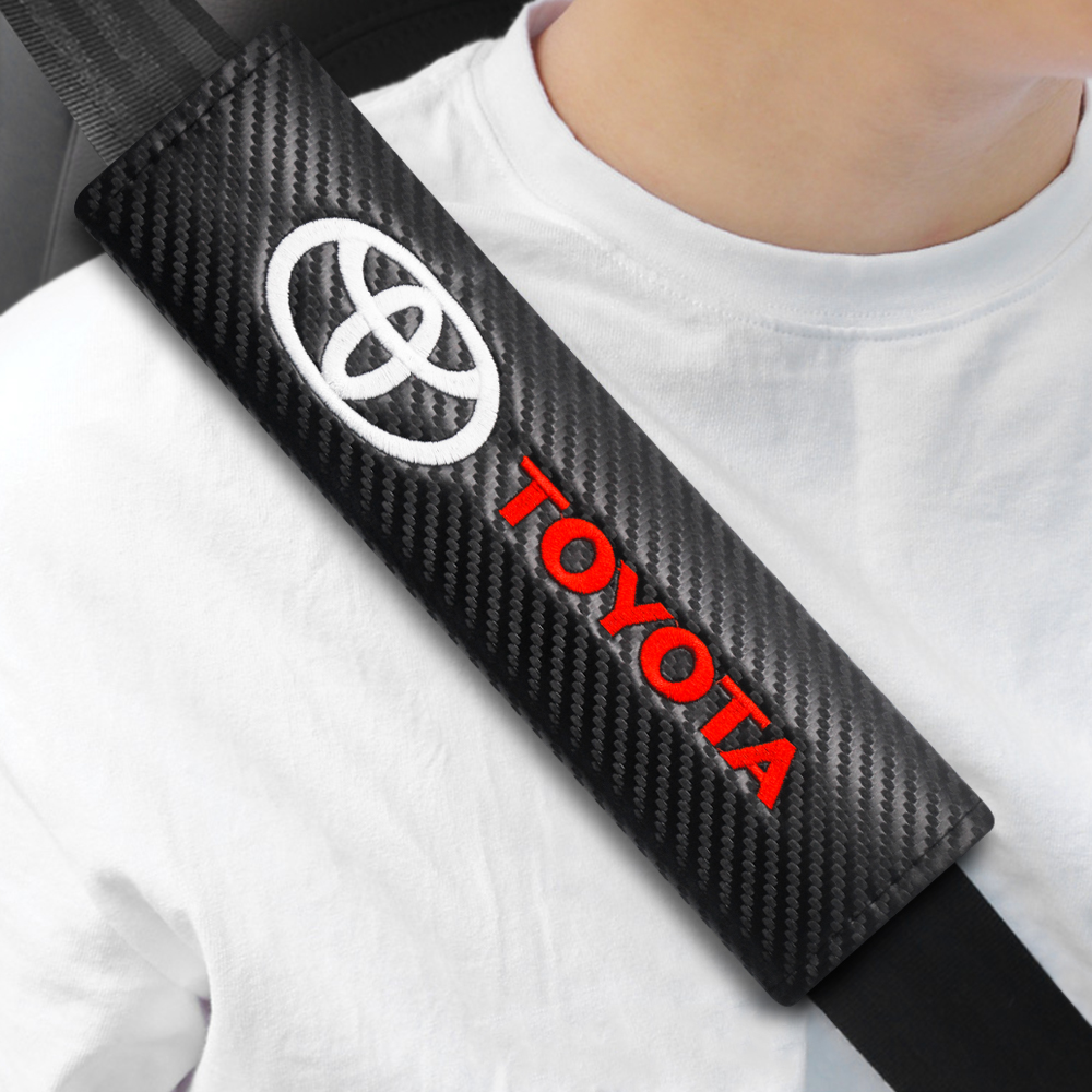 2 шт., накладки на автомобильный ремень безопасности для Toyota Prius Avensis Rav4 Auris Yaris Verso Land Cruiser Camry