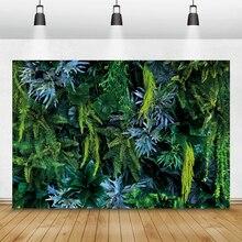 Laeacco写真の背景熱帯植物ジャングル緑の草サファリパーティー誕生日写真撮影の背景結婚式photozoneスタジオ