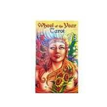 78pcs Wheel of the Year Tarocchi Carte Deck Misterioso Inglese Leggi Fortuna Per Uso Personale Gioco Da Tavolo Giochi di Carte