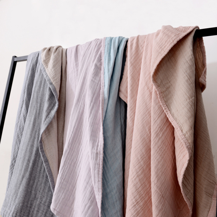 Lightweight Muslin Cotton Blanket Twin Double Size Throw Blankets for Bed & Sofa Summer Bedding Coverlet Lightweight Bedspread