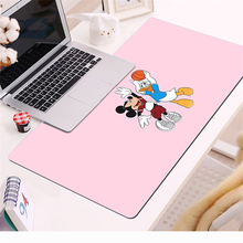 Pink  Mickey Large Natural Rubber Mouse Pad 70x30cm Waterproof Game Desk Cartoon Minnie Mousepad Keyboard Mat Birthday gift