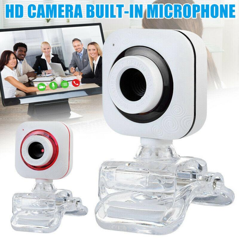 Webcam HD 480P  USB Camera Web Camera 12 Million Pixels Built-in Microphones 640x480 Clip-on Pc Computer Laptop