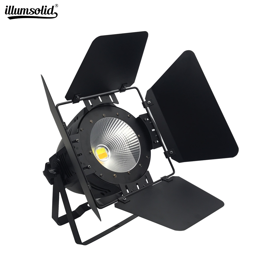 LED Par 100W/200W COB Lamp With Barn Doors Dmx Controll Stage Lights For Dj Booth Market Disco Church/Garden Effect Lighting
