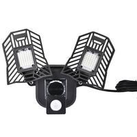 Movimento ativado luz 40 w smd 2835 lâmpada de parede ajustável deformable led arandela luzes garagem oficina eua ue plug uso doméstico|Luminárias de parede| |  -