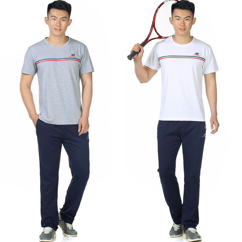 2020 New Style Middle-aged Sports Set Men's Summer Dad Summer Wear Short Sleeve Trousers Two-Piece Set