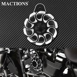 Motorcycle Horn Cover Horn Assembly Loudspeaker Aluminum Black &Chrome For Harley Touring FLHT Electra Glide 91-17 Sportster XL