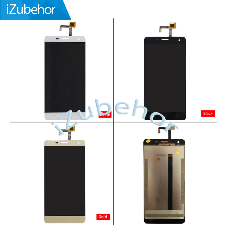 Black/White/Gold 5.5inch For Oukitel K6000 Pro LCD Display And Touch Screen Screen Digitizer Assembly Replacement; 100% Warranty