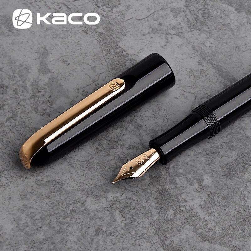 Xiaomi Mijia stylo en or de luxe, stylo de fontaine à pointe en or 14K pour hommes, boîte-cadeau de 0.5mm pour signature professionnelle, stylo de calligraphie