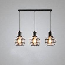 Retro Anhänger Lampe E27 Eisen Kafig Hängen Lichter Leuchte Industrie Vintage Dachboden Kuche Wohnzimmer Bar Cafe Hängen Lampe