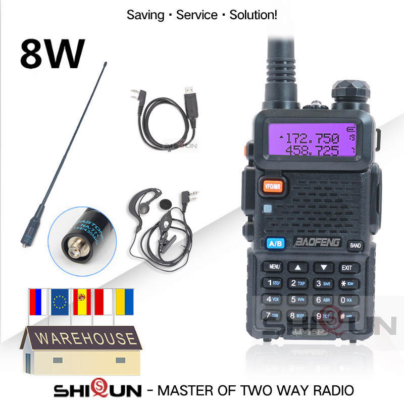UHF VHF Radio Walkie-Talkie Tri-Power-Band UV-5R UV-82 Baofeng 10-Km Low-Uv High-Middle