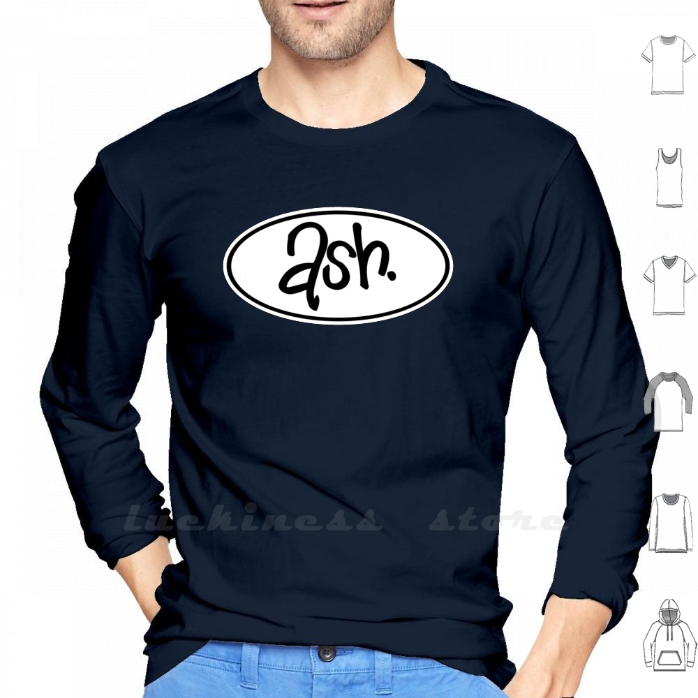 Ash manga larga hombres camisa de béisbol adolescente Ash Britpop Blur Rock británico Reino Unido Irlanda del Norte Irlanda Tim Wheeler 1977 Logo Band