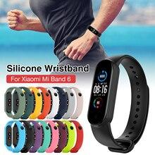 Силикон браслет для Xiaomi Mi Band 6 часы ремешок замена аксессуары стильный наручные часы ремешок браслет ремешок InStock