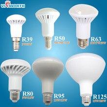 R50 conduziu a lâmpada e14 e27 conduziu o bulbo 3 w 5 7 9 diodo emissor de luz ac 110 v 220 v 240 v lampara conduzido para a ampola da decoração da casa frio/branco morno