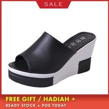 цена на BOUSSAC New Summer Women's Sandals Peep-Toe Shoes Woman High-Heeled Platfroms Casual Wedges For Women High Heels Shoes