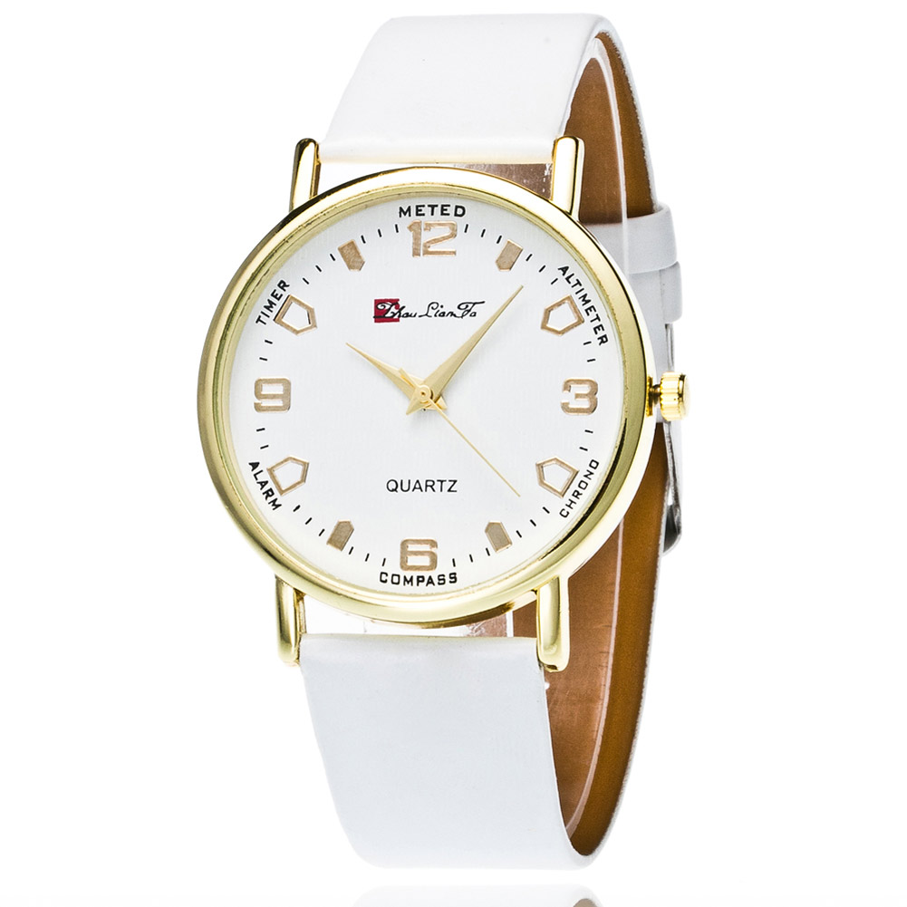 Classic Couple Quartz Watches Business Travel Casual Men Women Electronic Watch Round Dial Leather Strape LXH