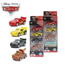 4 шт. 7-8 см disney Pixar тачки 3 супер мощность литья под давлением 1:55 коллекция шторм Джексон освещение Маккуин Смоки Вытяните назад металлический игрушечный автомобиль