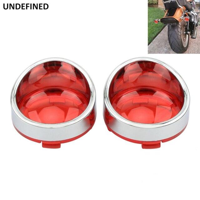 Bullet Turn Signal Indicator Light Lens Cover Visor Lenses For Harley Dyna Softail Sportster XL Touring Road King Street Glide