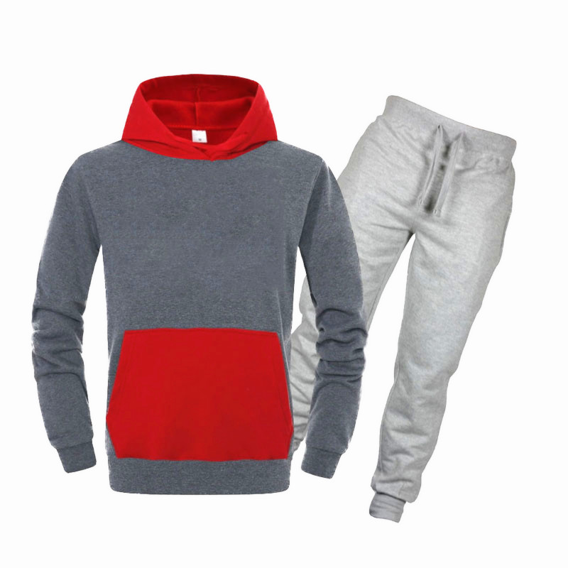 New Design Brand Fashion Sweatshirt Men Sportswear Men Hoodies+Sweat Pants Pullover Hip Hop Mens Tracksuit Sweatshirts Clothing