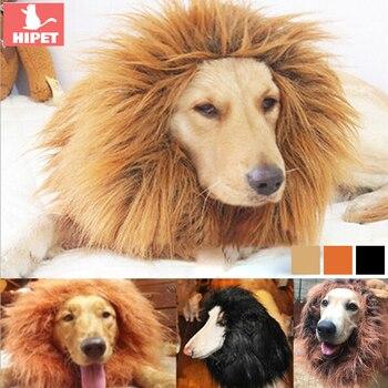Śmieszne słodkie strój dla zwierząt domowych lwia grzywa czapka z peruką kapelusz dla kota pies Halloween dekorację na imprezę świąteczną duże ubrania dla psów z uchem